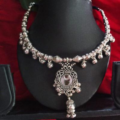 Trendilook German Silver Necklace Set