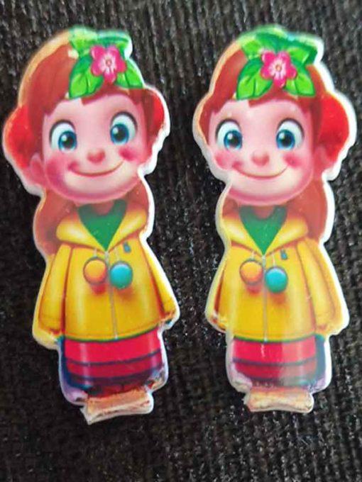 Trendilook Cute Doll Clips one Pair