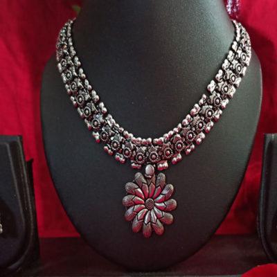 Trendilook German Silver Premium Quality Necklace Set