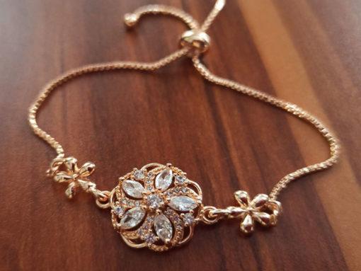 Trendilook Gold Plated Adjustable Bracelet for Ladies