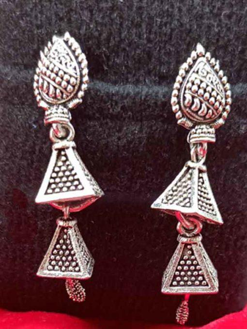 Trendilook Party Wear German Silver Earring