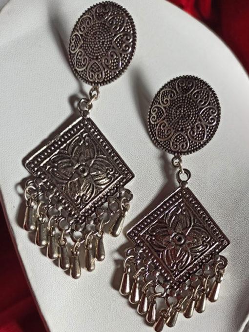 Trendilook Premium Quality German Silver Jhumki