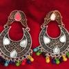 Trendilook Mirror Work German Silver Earring