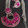 Trendilook Party Wear Rose Necklace Set